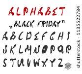 vector english alphabet from... | Shutterstock .eps vector #1135522784