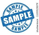sample ink rubber stamp vector... | Shutterstock .eps vector #1135525079
