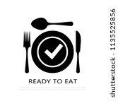 food serving vector pictogram...   Shutterstock .eps vector #1135525856