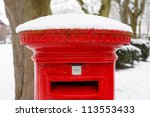 Post Box With Snow
