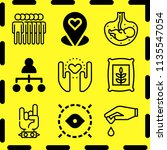simple 9 icon set of human... | Shutterstock .eps vector #1135547054