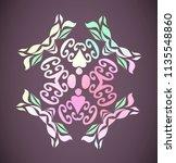 round rainbow gradient vector... | Shutterstock .eps vector #1135548860