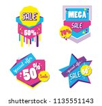 set of big sale shopping poster | Shutterstock .eps vector #1135551143