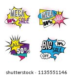 set of big sale shopping poster | Shutterstock .eps vector #1135551146