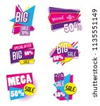 set of big sale shopping poster | Shutterstock .eps vector #1135551149