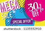 mega sale discounts poster... | Shutterstock .eps vector #1135552910