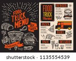 menu for food truck street... | Shutterstock .eps vector #1135554539
