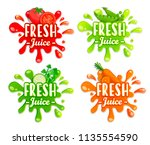 set of different vegetables... | Shutterstock .eps vector #1135554590