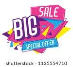 big sale discounts poster...   Shutterstock .eps vector #1135554710