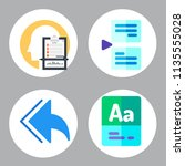 simple 4 icon set of book... | Shutterstock .eps vector #1135555028
