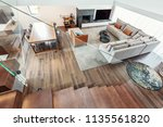 living room modern interior... | Shutterstock . vector #1135561820