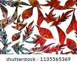 foliage ornament frame... | Shutterstock . vector #1135565369
