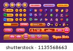 casino design elements vector... | Shutterstock .eps vector #1135568663
