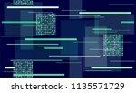 hi tech modern neon background  ... | Shutterstock .eps vector #1135571729