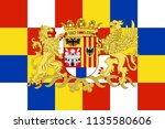 flag of antwerp is the... | Shutterstock .eps vector #1135580606