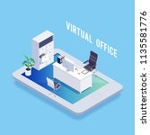 isometric concept of virtual... | Shutterstock .eps vector #1135581776