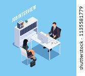 isometric concept of hiring... | Shutterstock .eps vector #1135581779
