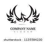 falcon wing logo template... | Shutterstock .eps vector #1135584230