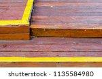 wooden stair steps | Shutterstock . vector #1135584980
