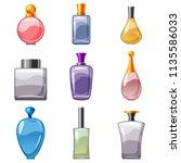set of perfumed bottles ... | Shutterstock .eps vector #1135586033