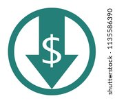 reduce costs icon. money clip...   Shutterstock .eps vector #1135586390