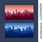 modern city skyscrapers set... | Shutterstock .eps vector #1135590059