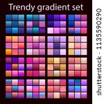 purple trendy set ultraviolet... | Shutterstock .eps vector #1135590290