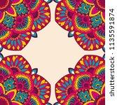 vector decorative indian...   Shutterstock .eps vector #1135591874