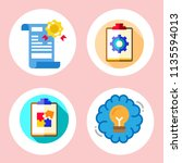simple 4 icon set of note... | Shutterstock .eps vector #1135594013