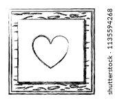 grunge framework heart card...   Shutterstock .eps vector #1135594268