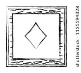 grunge framework diamond card...   Shutterstock .eps vector #1135594328