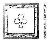 grunge framework clover card...   Shutterstock .eps vector #1135594334