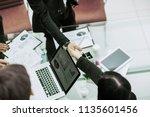 handshake business partners...   Shutterstock . vector #1135601456