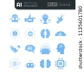 artificial intelligence simple... | Shutterstock .eps vector #1135601780