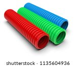 drainage pipes isolated on...   Shutterstock . vector #1135604936