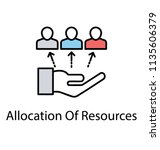 flat icon resource allocation. ... | Shutterstock .eps vector #1135606379