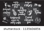 set of phrases for summer and... | Shutterstock .eps vector #1135606856