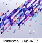 modern report cover  trendy... | Shutterstock .eps vector #1135607219