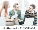 senior manager and members of... | Shutterstock . vector #1135608683