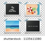 summer design. summer photos on ... | Shutterstock .eps vector #1135611080