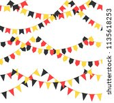 set of garland with celebration ... | Shutterstock .eps vector #1135618253