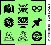simple 9 icon set of map... | Shutterstock .eps vector #1135620236