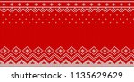knitted christmas vector... | Shutterstock .eps vector #1135629629
