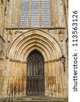 One Gate Of York Minster In Uk