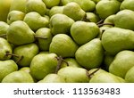 plenty of packham pears | Shutterstock . vector #113563483
