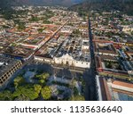 an aerial view of the historic... | Shutterstock . vector #1135636640