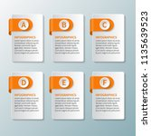 vector abstract 3d paper... | Shutterstock .eps vector #1135639523