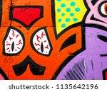 street art graffiti. closeup... | Shutterstock . vector #1135642196