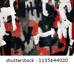 wall fragment with abstract... | Shutterstock . vector #1135644020