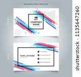 namecard template colorful... | Shutterstock .eps vector #1135647260